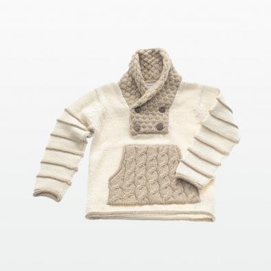 4 Botones Trenza Sweater