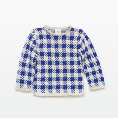 square_hand_made_baby_alpaca_sweater_winter_boy_girl_collection_luxury_warayana_blue